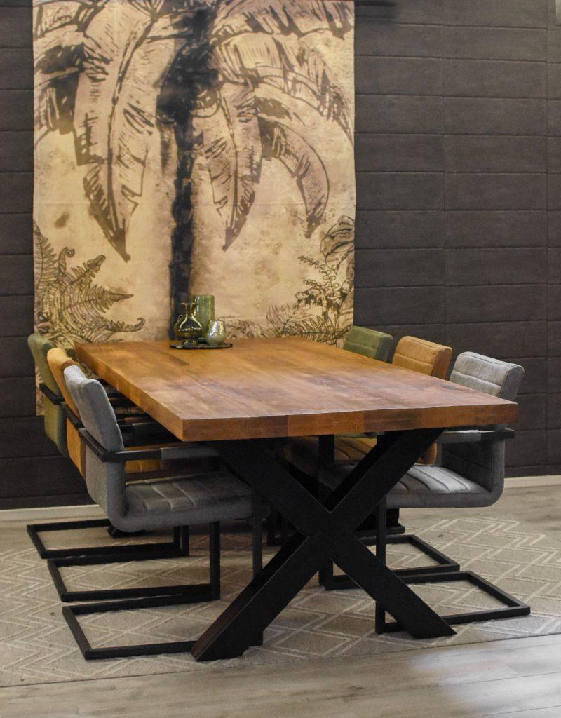 Eettafel Monique & 6 nine stoelen