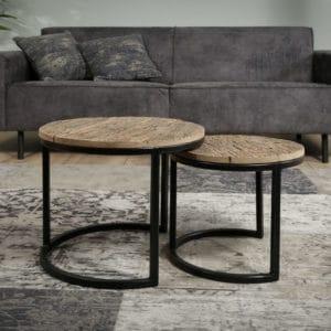 tafel set set van 2 houten set bijzettafel klein en grote tafel