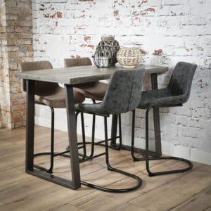 tafel hoge tafel bartafel eetkeuken tafel houten tafel