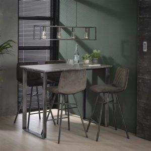 bartafel hoge tafel donkere tafel eetkamertafel