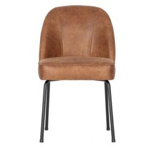 HUUS.nl BePureHome stoelen eetkamerstoelen stoel vogue cognac ecoleder detailfoto